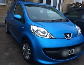 Peugeot 107 2008 for sale - blue