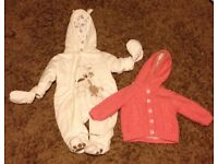 Baby coats, 0-3 months, in excellent condition, £1 each.