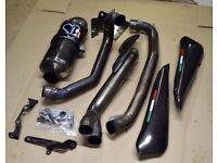 Ducati Hypermotard 1100 Single Carbon Termignoni Full System Decat Exhaust Silencer 796