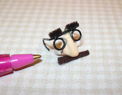 Miniature Funny Face Nose and Glasses for DOLLHOUSE Miniatures 1:12 Scale (Funny Glasses And Nose)