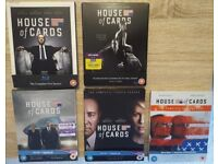 House Of Cards - Complete series 1-5 blu-ray boxset; Series 1 2 3 4 5 + some UV digital codes