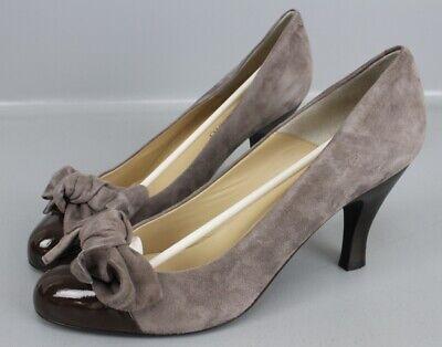 Moda Di Fausto Pumps braun Gr. 42 High Heels Camoscio Topo Damen...