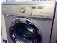 LG, Silver & Chrome, 8KG Direct Drive WASHER + LCD Screen + 3 Months Guarantee + FREE LOCAL DELIVERY