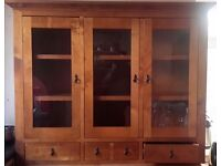 Solid hardwood cabinet. Good condition. Collection Norwich