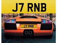 ***** J7 RNB **** Cherished private personalised registration number plate
