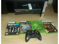 Xbox 360 with 5 games,console,Wi-Fi adapter
