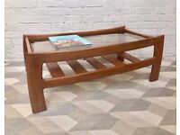 G Plan Glass Coffee Table with Shelf #464