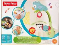Baby Fisher-Price Rainforest Friends 3-In-1 Musical COT Mobile Brand NEW Boxed