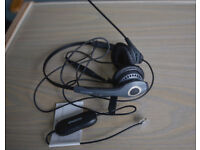 "BARGAIN - Jabra GN2000 Duo Soundtube Office Headset with Jabra GN1200 Universal ""Smart"" Cord."