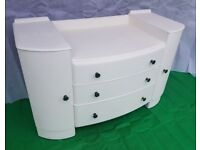 Vintage White Dresser / Chest / Sideboard - DELIVERY AVAILABLE