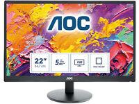 AOC E2270SWDN - 22 Inch Full HD Monitor, 60Hz, TN, 5ms