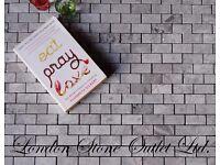 Silver Grey Empredor Polished Marble Brick Mosaics (2.5cm x 5cm x 1.2cm) Splashback / Feature wall