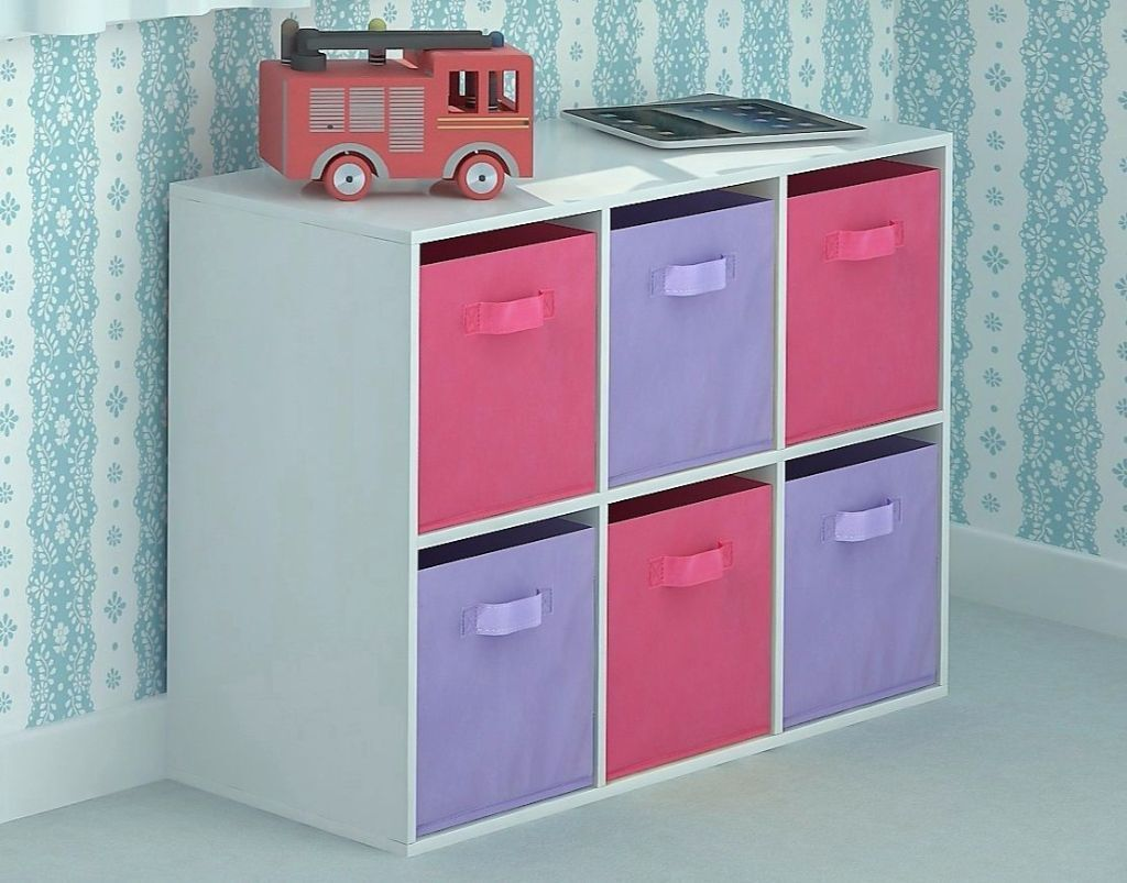 New Children s Toy Storage Unit Chest of 6 Canvas Drawer
