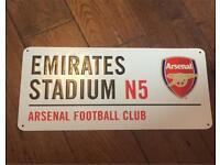 Arsenal football club metal wall sign. Brand new £5