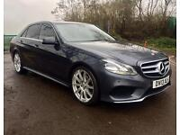 MERCEDES-BENZ E220 CDI AMG SPORT BLUE EFFICIENCY AUTO 2013 FULL LEATHER SAT NAV