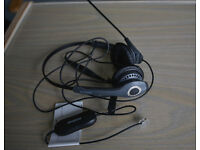 "Jabra GN2000 Duo Soundtube Office Headset with Jabra GN1200 Universal ""Smart"" Cord"