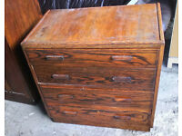 LOVELY SET OF BEDROOM DRAWERS SOLID WOOD IDEAL TO SHABBY CHIC OR SAND DOWN GOOD QUALITY