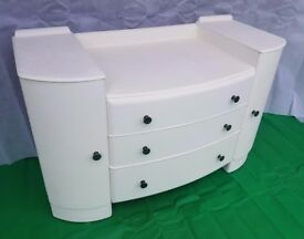 Vintage White Dresser / Chest / Cupboard - DELIVERY AVAILABLE