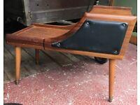 Vintage Telephone Seat Hall Table