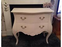 Large shabby chic Louis style chest of drawers