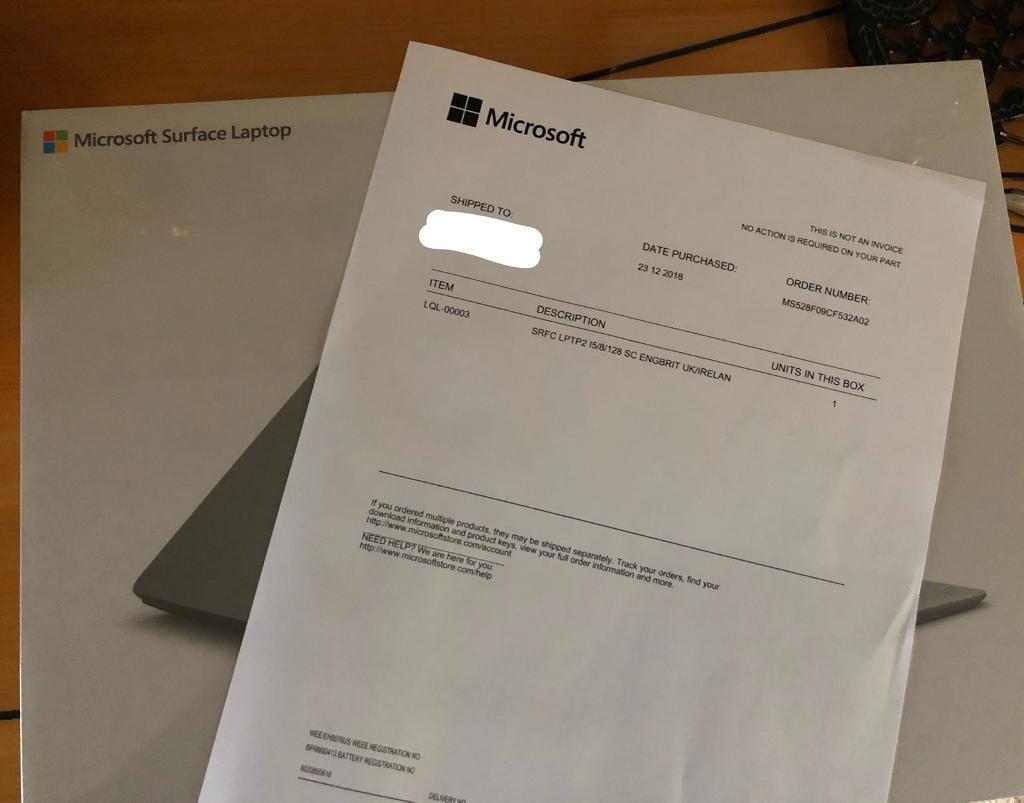 Brand new sealed Surface Laptop 2 – 128 GB/Intel Core i5/8 GB RAM  (Platinum)   in Ruislip, London   Gumtree