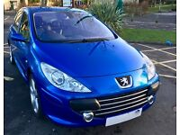 PEUGOT 307 HDI SPORT, 106K MILES, 9 MONTH MOT. LEATHER/CLIMATE/CRUISE EXCELLENT CONDITION