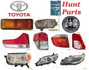 Toyota Echo 2000 2001 2002 2003 2004 2005 Fog Lamp Cover Headlamp Taillamp Head Tail Trunk Lid Light Side Marker Signal
