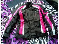 Ladies size 12 motorbike jacket.