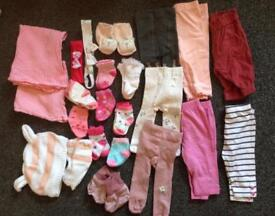 Job lot 42 items girls clothes 0-3 months old