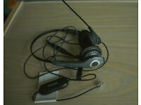 "BARGAIN - Jabra GN2000 Duo Soundtube Office Headset with Jabra GN1200 Universal ""Smart"" Cord"