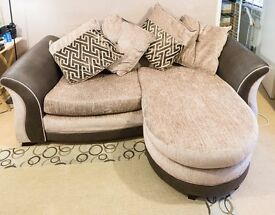 DFS Merida Pillow Back sofa with lounger