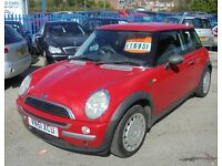 MINI 0NE 1598cc 3 DOOR HATCH 2001-51, LOOK ONLY 1 FORMER KEEPER AND ONLY 98K FROM NEW