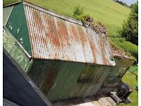 Garage and coal shed to dismantle carefully and remove