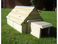 NEW - solid handmade quality rustic hedgehog house with tunnel