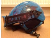 SMITH- ski helmet AND goggles. Youth -53-58cm
