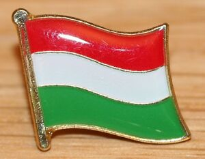 HUNGARY Hungarian Country Metal Flag Lapel Pin Badge