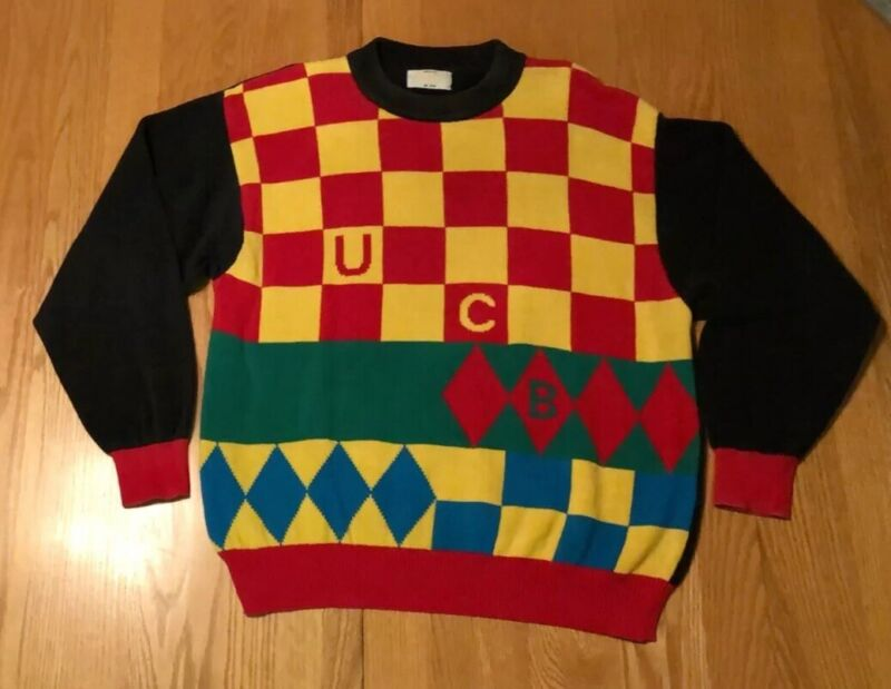 Vintage United Colors of Benetton UCB 100% Cotton Rare Made In Italy Sweater L
