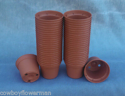 TINY 5 CM. POPPELMANN TEKU TO 5, PLASTIC FLOWER POTS, LOT OF 50 NEW