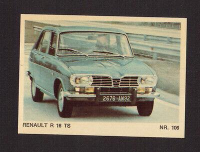 RENAULT R 17 Sticker 1972 Sammelbild