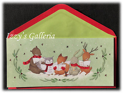 14x LOT Papyrus Whimsy Whimsical Woodland Animals Warm Wishes Christmas Cards ()
