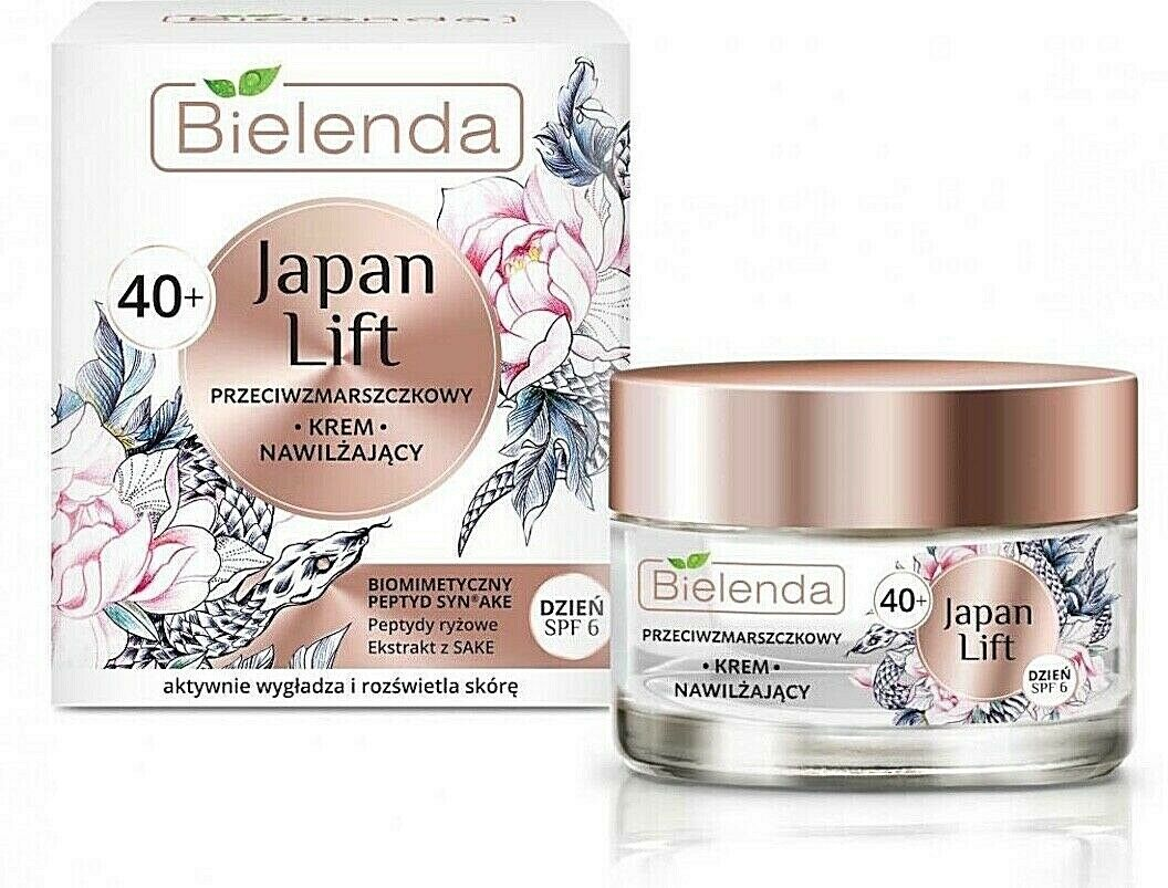 Bielenda Japan Lift Anti-Wrinkle Moisturising Face Cream 40+ Day SPF6 50ml