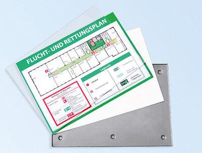 DIN A3 Praxisschild Kassettenschild Wechselrahmen Fluchtwegplan Wegweiser Tafel
