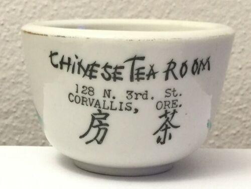 Chinese Tea Room Chinese Restaurant Tea Cup Corvallis Oregon Vintage