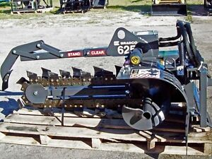 Skid Steer Trencher Attachment,Bradco 625 Fits Bobcat,Cat, Case, Deere