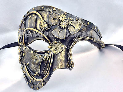 Steampunk Phantom Masquerade Ball Mask Burning Man Costume Dance Prom Party - Mens Masquerade Ball Costumes