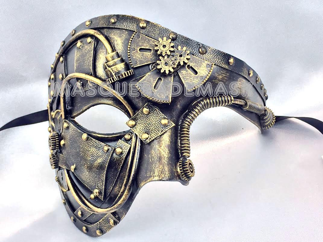 Steampunk Phantom Masquerade Ball Mask Burning Man Costume D