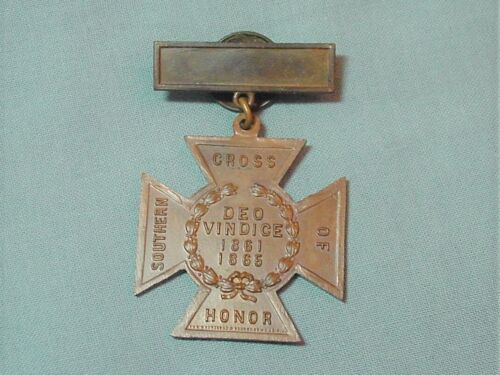 United Daughters Of The Confederacy Southern Cross Of Honor 1861-1865
