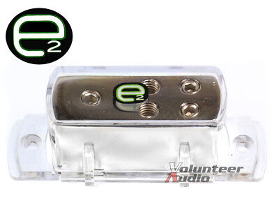 Scosche E2 Edb 4 Ga To 8 Ga Ground Distribution Block Platinum Plated ()