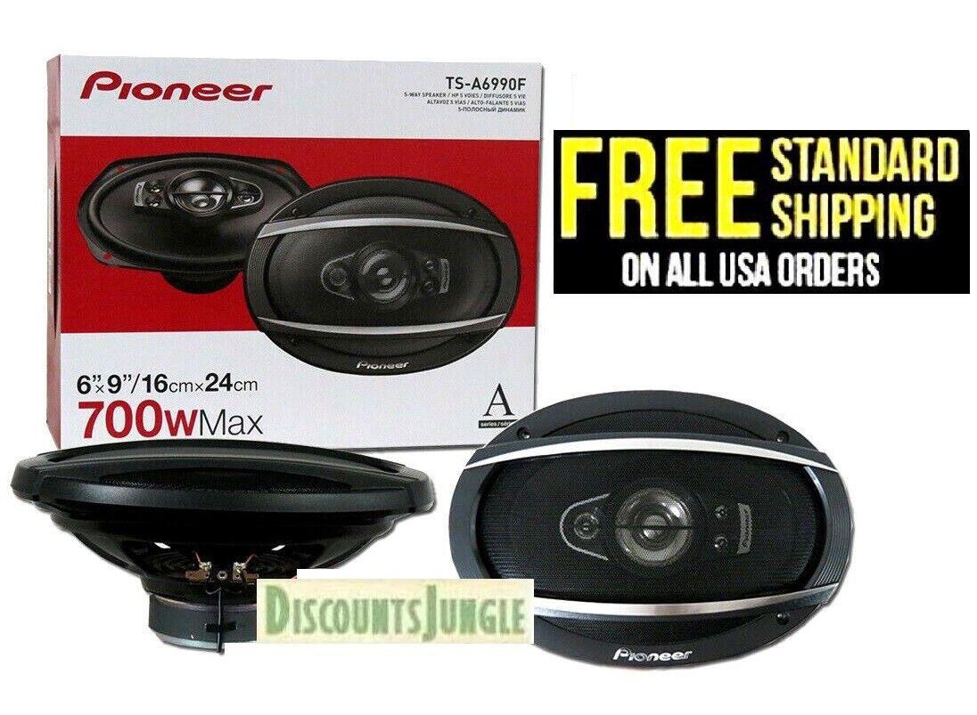 PIONEER TS-A6990F 1400 watt pair 700 watts each 5-way 6 x 9