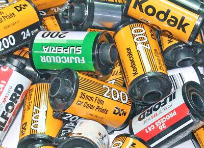 40 Contenitori vuoti rullini fotografici metallo senza pellicola no film